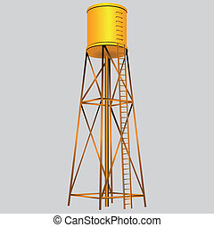 Water Tower - Industrial construction with water tank....