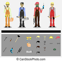 workers - set of workers with tools