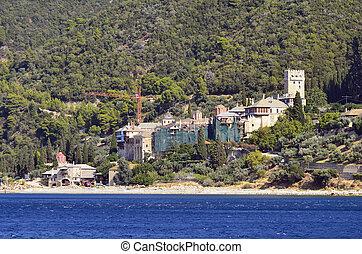 Greece, Athos - Greece, Mount Athos, Dochiariou monastery