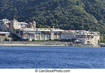 Greece, Athos - Greece, Mount Athos, Xenofontos monastery