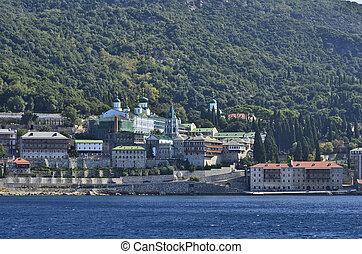 Greece, Athos - Greece, Mount Athos, Monastery Agios...