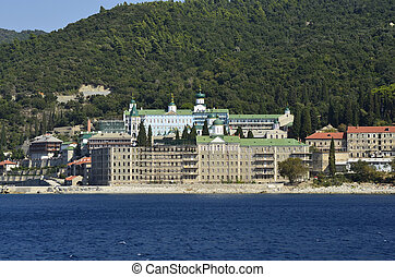 Greece, Athos - Greece, Mount Athos, Monastery Agios...