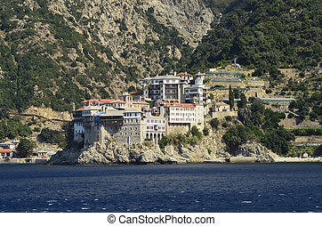 Greece, Athos - Greece, Mount Athos, Monastery Agia...