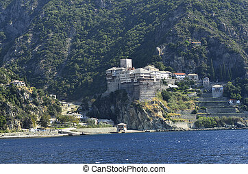 Greece, Athos - Greece, Mount Athos, Monastery Dionyssiou
