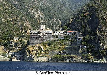 Greece, Athos - Greece, Mount Athos, Monastery Dionyssiou