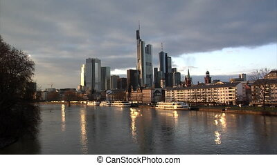 Frankfurt Germany Skyline Bank Stock exchange