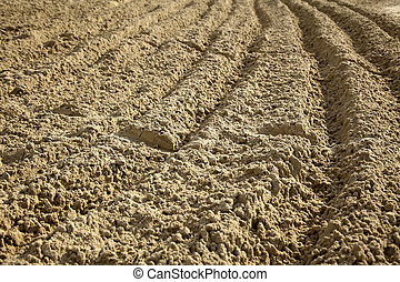 Ploughed Sand - Ploughed sand at a beach.