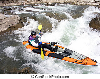 rafter close - whitewater rafter close