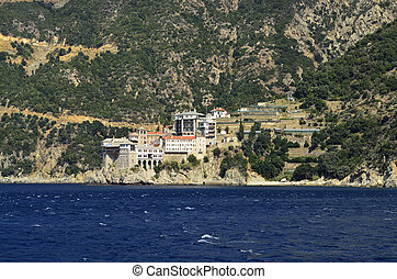Greece, Athos - Greece, Mount Athos, Monastery Agios Pavlou