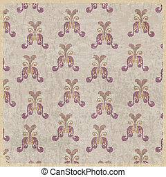 Abstract vintage background with floral elements