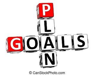 3D Plan Goals Crossword