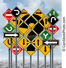 Direction Choices - Direction choices choosing a strategy or...