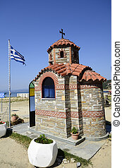 Greece, religion - Greece, small chapel in Ouranoupoli