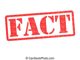 FACT Rubber Stamp over a white background