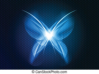 abstract butterfly on the dark background
