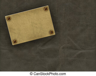 Leather background - Leather grunge background of brown...