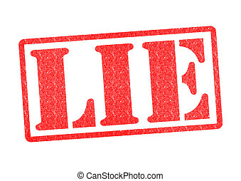 LIE Rubber Stamp over a white background