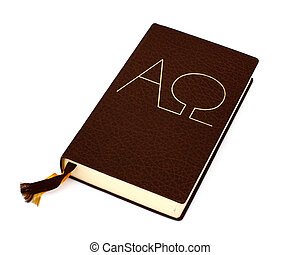 bible isolated - taken under studio light with electronic...
