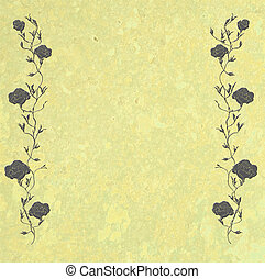 Vintage Rose Border with Copy Space