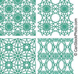 Seamless pattern from diamond cutting