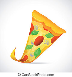 Pizza slice cartoon - Illustration of tasty slice of pizzaa...