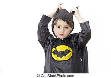Boy with carnival costume Costume of bat