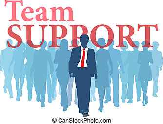 Support Team Business backup people - Business person backed...