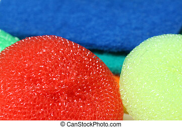 Scrubber - Close up image of some scrubber used in kitchen