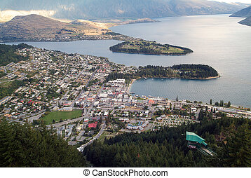 New Zealand -  Queenstown on Lake Wakatipu in New Zealand