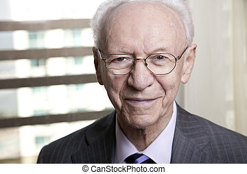 Senior Businessman Portrait - Close-up portrait of a senior...