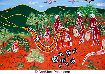 Aboriginal Art - Indigenous art display, Cairns, Australia