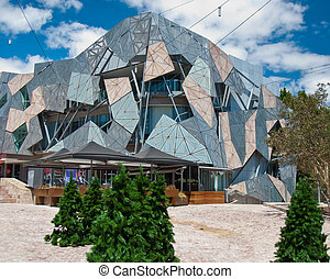 Federation Square, Melbourne,Australia - A popular holiday...