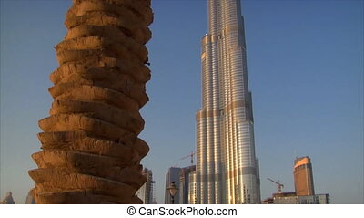Palm at Burj Khalifa Dubai - DUBAI - SEPTEMBER 8: A tilt...