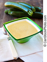 cream soup with zucchini - Photo of fresh delicious soup...
