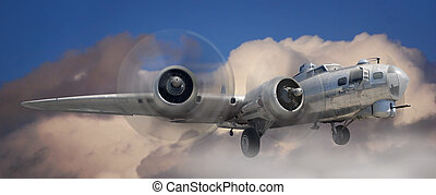 B17 Stratofortress - Fish eye view of a B-17 Stratofortress...