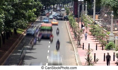 heavy asia city traffic - Heavy asia city traffic time lapse...
