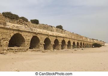 Aqueduct in ancient Caesarea