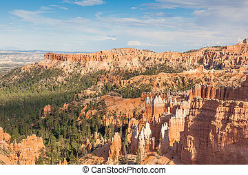 Geological formations in Bryce canyon national park in Utah...