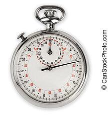análogo, parada, reloj