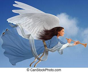 Anioł, biały