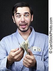 Get Rich from Home - Medium closeup of an adult man (30...