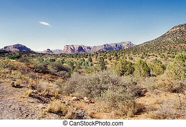 Arizona Desert - Arizona desert near Sedona on a sunny...