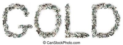 Gold - Crimped 100$ Bills