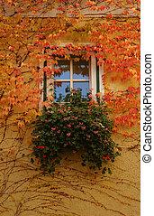 autumn window - Bavarian window in autumn...