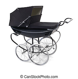 baby buggypram on white - baby buggy pram on white