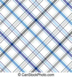 Blue Stripes Plaid - Plaid background pattern in three...