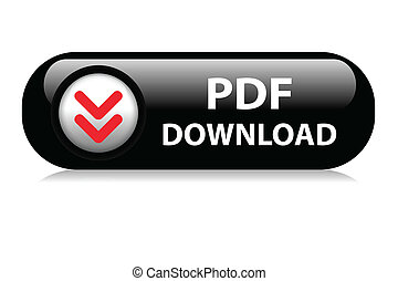 PDF Download web button - PDF black download web button.
