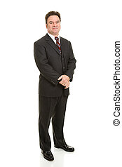Mature Businessman Full Body - Full body view of handsome...