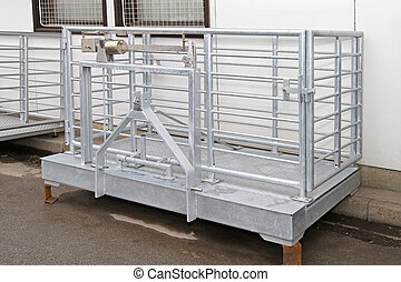 Live stock scale - Livestock scale with cage for pigs and...