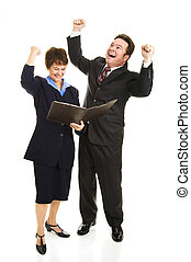 Business People Rejoicing - Business people overjoyed by a...